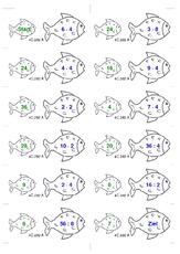 die Reihen bis 12 - Einmaleins mit Dominofischen - spielerisch ...