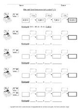 Cent (Arbeitsblatt) in der Grundschule - Mathe - Unterrichtsmaterial ...