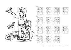 rechnen und malen arbeitsbl tter mathe klasse 3. Black Bedroom Furniture Sets. Home Design Ideas