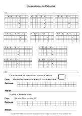 Rechnen in Tabellen in der Grundschule - Mathe Klasse 3 ...