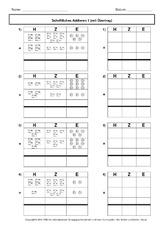 euro in der grundschule schriftliche addition arbeitsbl tter mathe klasse 3. Black Bedroom Furniture Sets. Home Design Ideas