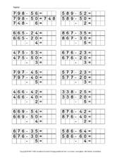 halbschriftlich add sub halbschriftliches rechnen arbeitsbogen mathe klasse 3. Black Bedroom Furniture Sets. Home Design Ideas
