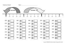 arbeitsbl tter erweiterung des zahlenraums mathe klasse 3. Black Bedroom Furniture Sets. Home Design Ideas