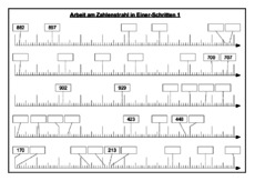 Stellenwerttabelle Und Zahlenstrahl Im Zahlenraum 1