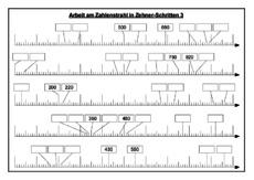 arbeitsblatt in der grundschule zahlenstrahl erweiterung des zahlenraums mathe klasse 3. Black Bedroom Furniture Sets. Home Design Ideas