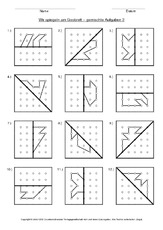 symmetrie in der grundschule geobrett geometrie mathe klasse 3. Black Bedroom Furniture Sets. Home Design Ideas