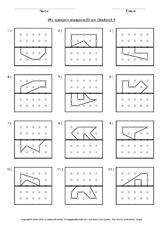 symmetrieachse in der grundschule geometrie mathe klasse 3. Black Bedroom Furniture Sets. Home Design Ideas
