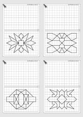 arbeitsblatt in der grundschule gitterbilder zeichnen gitterbilder geometrie mathe. Black Bedroom Furniture Sets. Home Design Ideas