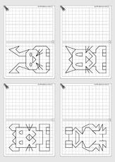 Arbeitsblatt in der Grundschule - Gitterbilder - Geometrie - Mathe ...