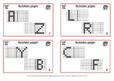 Symmetrieachse in der Grundschule - Geometrie - Mathe Klasse 3 ...