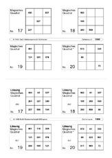 Magisches Quadrat (Arbeitsblatt) in der Grundschule - Rechenkartei ...