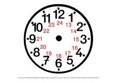 Uhr lernen arbeitsblätter  Juli Löwenzahn Von früh bis abends Abenteuer