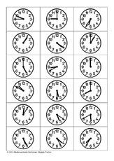 uhrentest12 arbeitsbl228tter uhrzeiten mathe klasse
