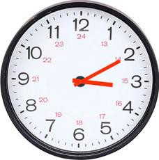 Uhr  Uhr-5-Min-Schritte-farbe - Uhren-Bilder - Uhrzeiten - Mathe Klasse ...