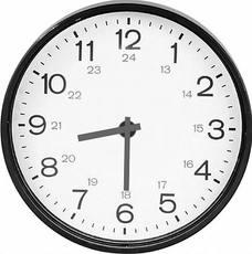Uhr-5-Min-Schritte-grau - Uhren-Bilder - Uhrzeiten - Mathe Klasse 3 -  Grundschulmaterial.de