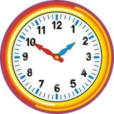 Uhr  Uhr in der Grundschule - Uhrzeit farbe - Uhren-Bilder - Uhrzeiten ...
