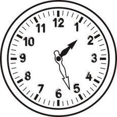 Uhr ohne zeiger vorlage  Uhr-ohne-Zeiger - Arbeitsblätter - Uhrzeiten - Mathe Klasse 3 ...