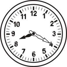 Uhr  Uhr in der Grundschule - Uhrzeit sw - Uhren-Bilder - Uhrzeiten ...