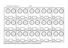 Zeitspannen in der Grundschule - Uhrzeiten - Mathe Klasse 3 ...