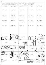 Arbeitsblatt in der Grundschule - Multiplikation Puzzle ...