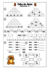 Rechenrätsel - Kopfrechnen - Mathe Klasse 4 - Grundschulmaterial.de