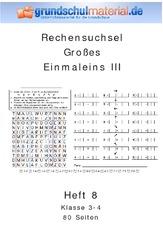 Großes Einmaleins Arbeitsblatt In Der Grundschule