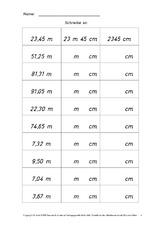 kilometer meter zentimeter rechnen mit gr en mathe. Black Bedroom Furniture Sets. Home Design Ideas