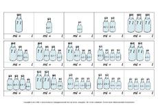 arbeitsbl tter liter milliliter liter milliliter rechnen mit gr en mathe klasse 4. Black Bedroom Furniture Sets. Home Design Ideas